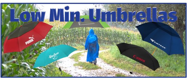 Low Minimum Umbrellas