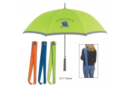"46"" Auto Open Two-Tone Umbrella with Strap"