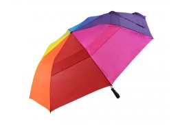 "58"" Auto Open Folding Rainbow Golf Umbrella"