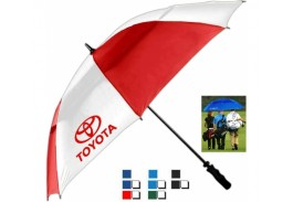 "64"" Auto Open Vented Tornado Golf Umbrella"