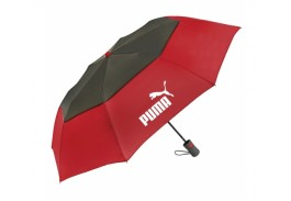 "Mini 42"" Auto Open Vented Graphite Crown Folding Umbrella"