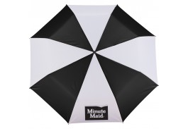 "Mini 42"" Manual Open Folding Umbrella with Matching Case and Wrist Strap"