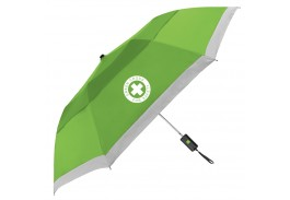 "Mini 42"" Auto Open Windproof Reflective Umbrella"