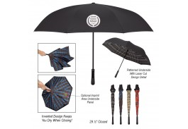 "48"" Manual Open Soho Tartan Inversion Umbrella"