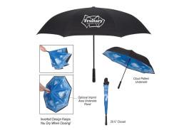 "48"" Manual Open Blue Skies Inversion Umbrella"
