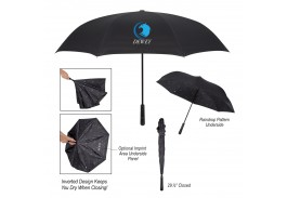 "48"" Manual Open Rain Drop Inversion Umbrella"