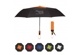 "44"" Auto Open Telescopic Diamond Top Vented Umbrella"