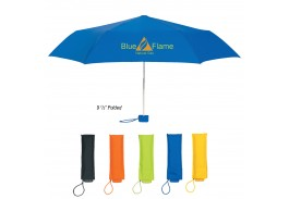 "Mini 39"" Manual Open Bella Bright Telescopic Folding Umbrella"