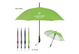 "46"" Auto Open Stripe Accent Panel Umbrella"