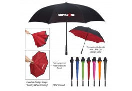 "48"" Manual Open Two-Tone Inversion Umbrella"
