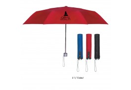 "Mini 42"" Manual Open  Trendy Telescopic Folding Umbrella"