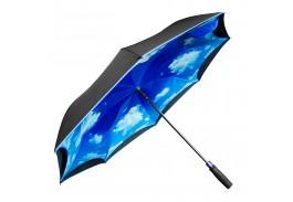 "48"" Auto Open Blue Sky & Clouds Inversion Umbrella"