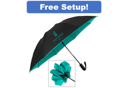 "48"" Auto Open Color Flip Inversion Folding Umbrella"