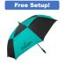 """62"""" Arc Auto Open Vented Checkerboard Umbrella"""