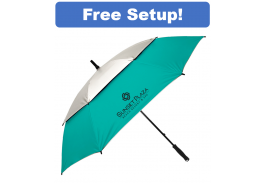 "62"" Arc Manual Open Vented UV Golf/Beach Umbrella"