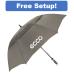 "62"" Arc Manual Open Vented Typhoon Tamer Golf Umbrella"