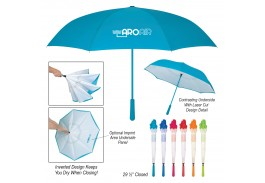 "48"" Manual Open Bellissimo Inversion Umbrella"