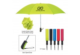 "46"" Auto Open Telescopic Inversion Umbrella"