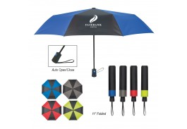 "43"" Mini Auto Open Duet Colors Telescopic Folding Umbrella"