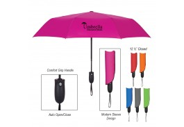 "Mini 42"" Auto Open Telescopic Wave Umbrella"