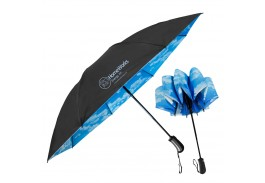 "46"" Auto Open & Close SkyView Inverted Folding Umbrella"