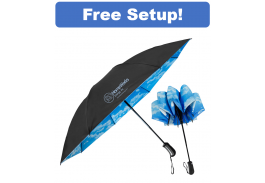 "46"" Auto Open & Close SkyView Inverted Folding Umbrella"