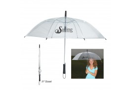 "46"" Auto Open Clear Umbrella"
