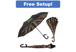 """46"""" Manual Open Leopard ViceVersa Inverted Umbrella"""