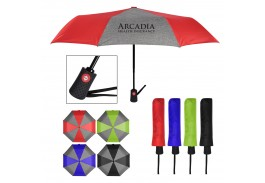 "42"" Auto Open and Close Heathered Telescopic Folding Umbrella"