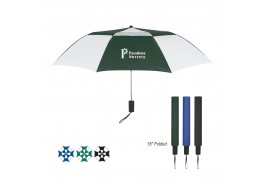"Mini 44"" Auto Open Vented Telescopic Folding Umbrella"