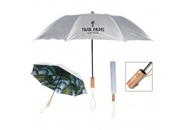 "46"" Auto Open Arc Palm Bay Folding Umbrella"