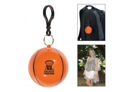 Basketball Pouch with Clear Poncho