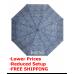 "Mini 42"" Auto Open Tweeds Deluxe Folding Umbrella"