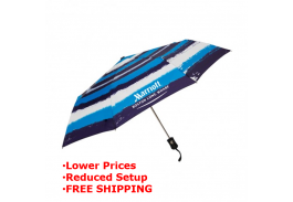 "Mini 42"" Auto Open Watercolor Print Umbrella"