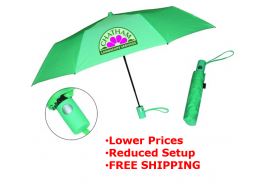"Mini 42"" Auto Open Fashion Mate Folding Umbrella"