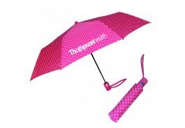 "Mini 42"" Auto Open Fashion Polka Umbrella"