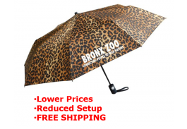 "Mini 42"" Auto Open Wild Prints Folding Umbrella"