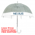 "Mini 42"" Manual Clear Dome Umbrella W/Printable Edge"