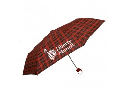 "Mini 42"" Manual Pocket Plaid Folding Umbrella"