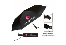 "Mini 42"" Auto Open The Storm Flashlight Umbrella"