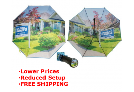 "Photobrella 62"" Manual Open Golf Umbrella"