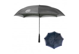 "48"" Manual Open Heathered Inversion Umbrella"