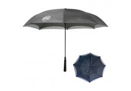 "48"" Manual Open Heathered Inversion Umbrella"