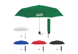 "Mini 42"" Manual Folding Telescopic Umbrella with 100% RPET Canopy"