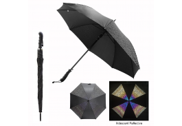 "46"" Auto Open Reflective Iridescence Umbrella"