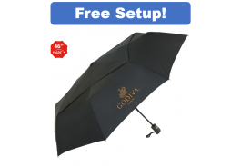 "46"" Auto Open/Close Vented Director Folding Umbrella"