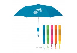 "Mini 42"" Auto Open Neon Telescopic Folding Umbrella"