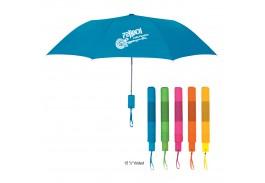 """Mini 42"""" Auto Open Neon Telescopic Folding Umbrella"""