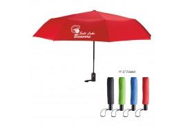 """Mini 42"""" Auto Open Folding Umbrella with Wrist Strap"""
