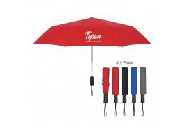 "Mini 46"" Auto Open Folding Umbrella with Matching Sleeve"